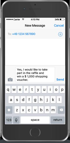 Codice QR per SMS Esempio